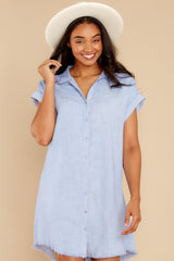 7 Not By Coincidence Denim Blue Shirt Dress at reddress.com
