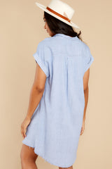 8 Not By Coincidence Denim Blue Shirt Dress at reddress.com