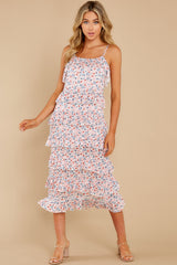 1 Heat Wave Pink Print Midi Dress at reddress.com