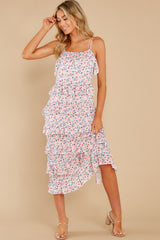 3 Heat Wave Pink Print Midi Dress at reddress.com