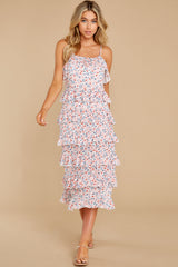 4 Heat Wave Pink Print Midi Dress at reddress.com