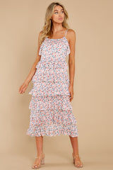 5 Heat Wave Pink Print Midi Dress at reddress.com