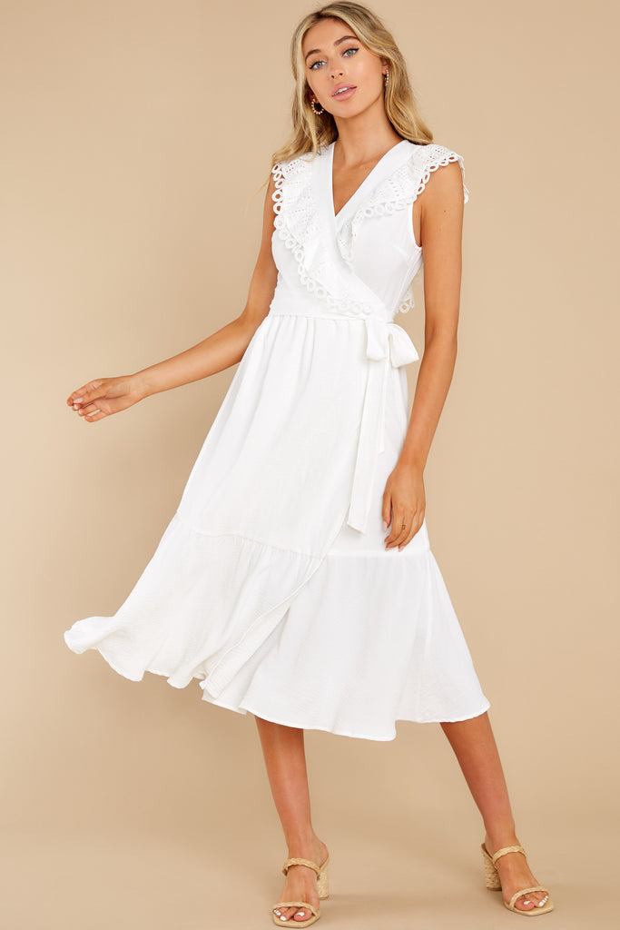 1 Couldn't Help It Off White Eyelet Maxi Dress at reddress.com