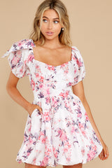 6 Spring In Your Step White Floral Print Dress at reddress.com