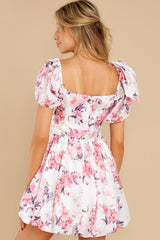 8 Spring In Your Step White Floral Print Dress at reddress.com