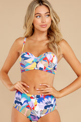 3 No Road Map Purple Multi Print Bikini Bottoms at reddress.com