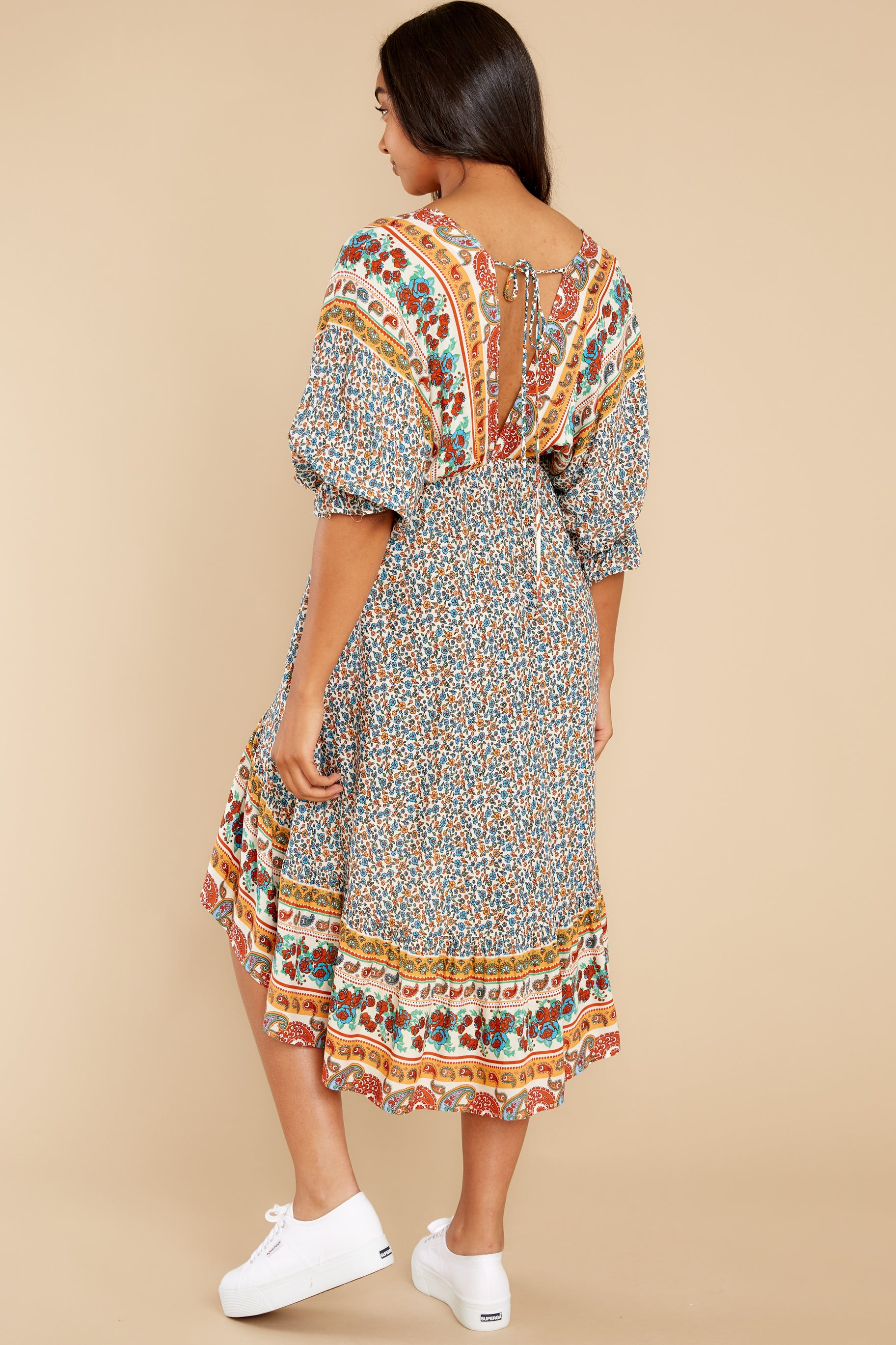 7 Out Of Envy  Multi Print Midi Dress at reddress.com