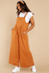 3 In It To Win It Butterscotch Jumpsuit at reddress.com