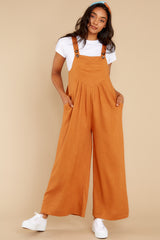 6 In It To Win It Butterscotch Jumpsuit at reddress.com