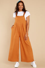 1 In It To Win It Butterscotch Jumpsuit at reddress.com
