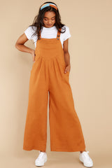 5 In It To Win It Butterscotch Jumpsuit at reddress.com