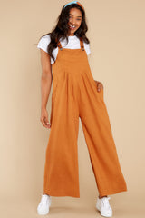2 In It To Win It Butterscotch Jumpsuit at reddress.com