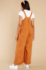 7 In It To Win It Butterscotch Jumpsuit at reddress.com