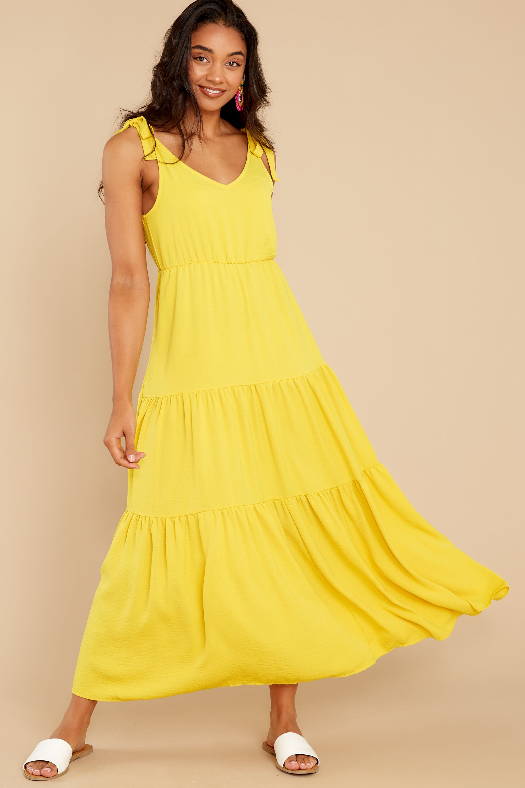 6 Right Kind Of Attention Yellow Maxi Dress at reddress.com