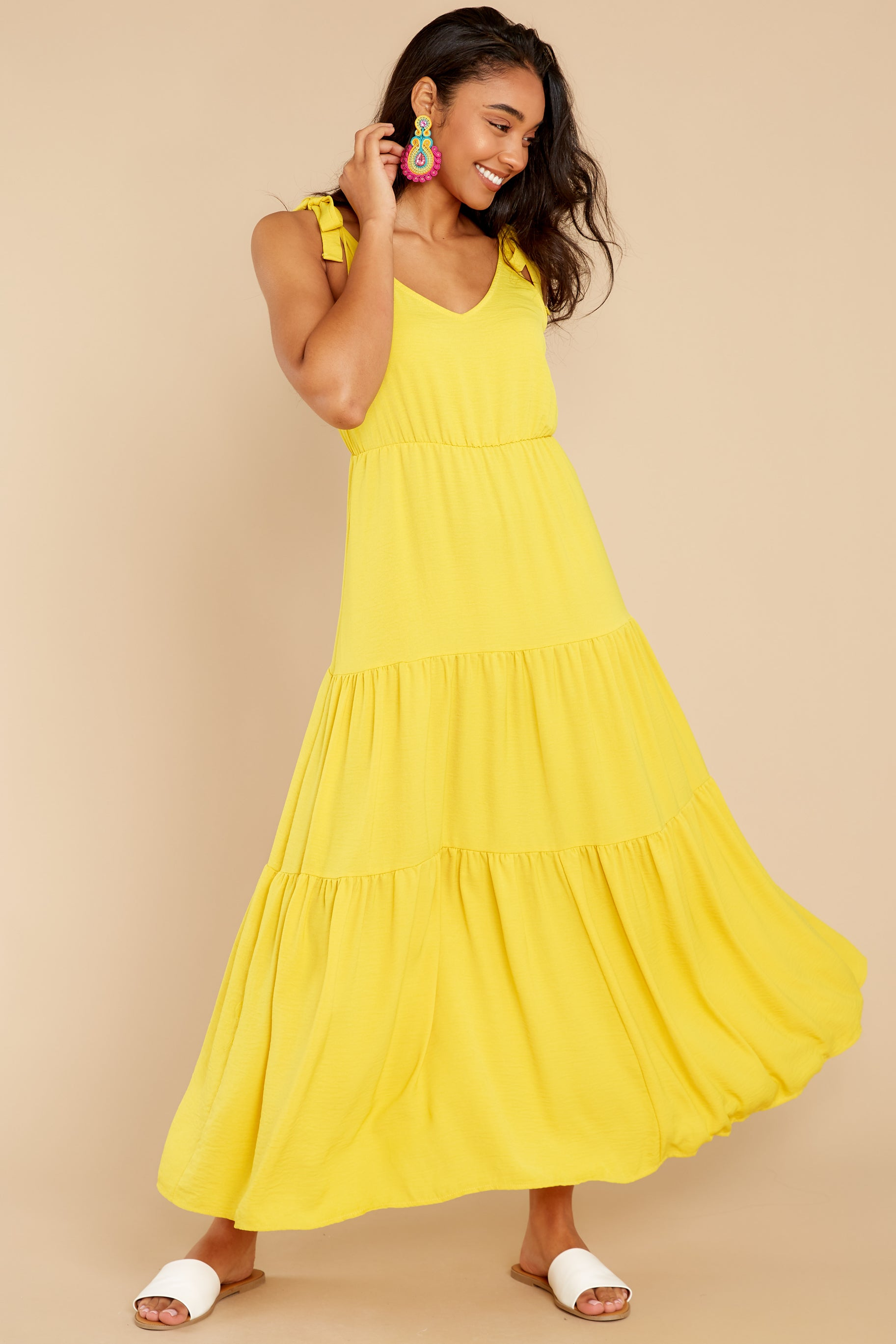 3 Right Kind Of Attention Yellow Maxi Dress at reddress.com