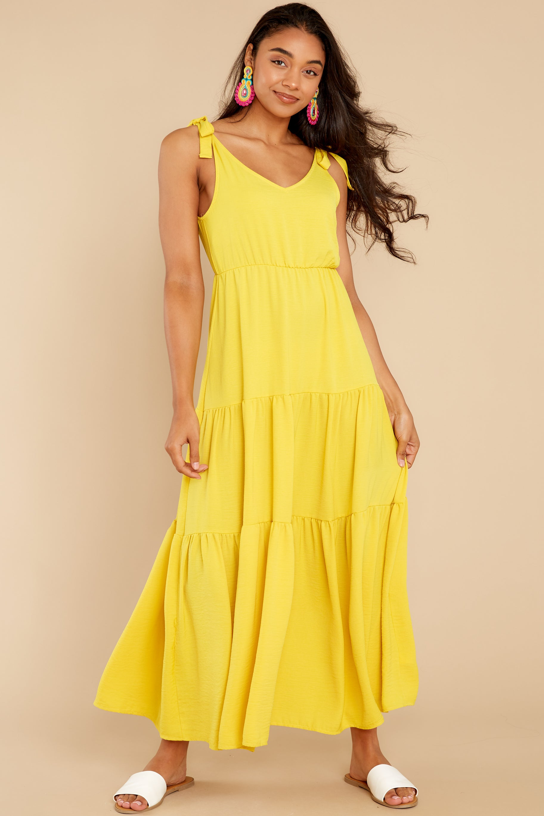 2 Right Kind Of Attention Yellow Maxi Dress at reddress.com