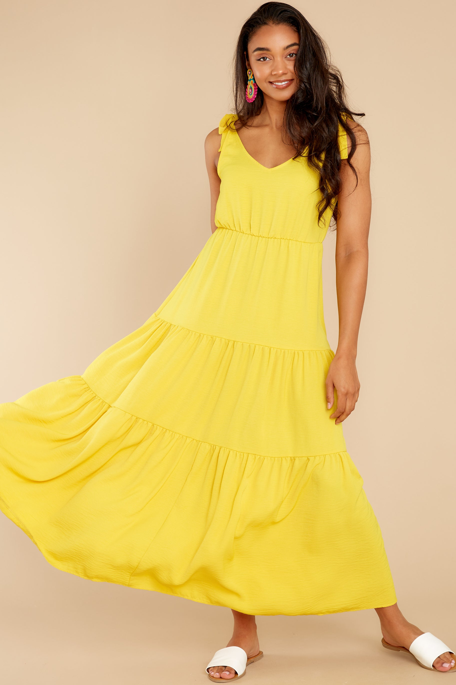 5 Right Kind Of Attention Yellow Maxi Dress at reddress.com