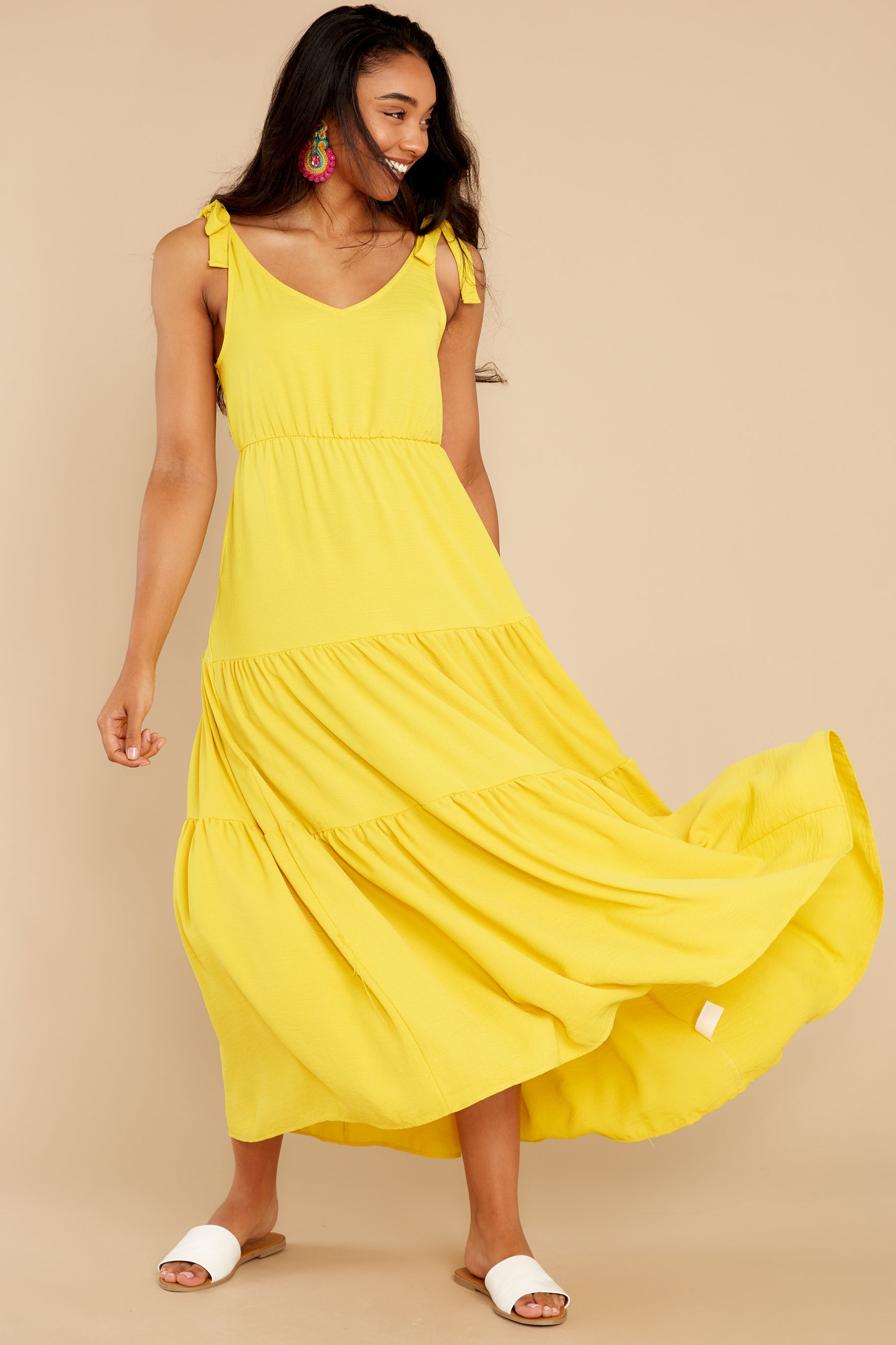 4 Right Kind Of Attention Yellow Maxi Dress at reddress.com