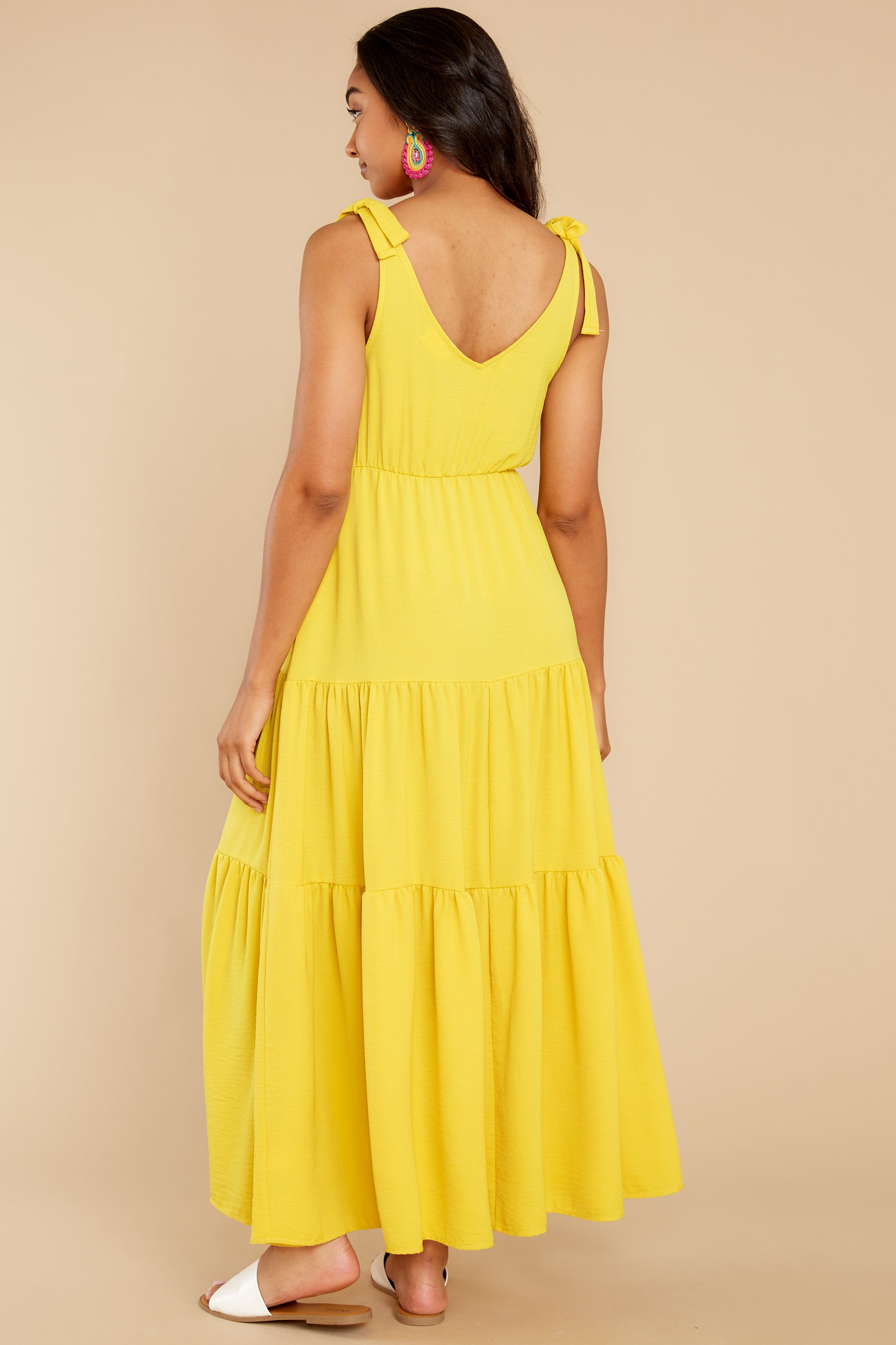 7 Right Kind Of Attention Yellow Maxi Dress at reddress.com