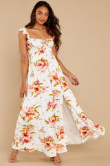 5 Know What I Want White Floral Print Maxi Dress at reddress.com