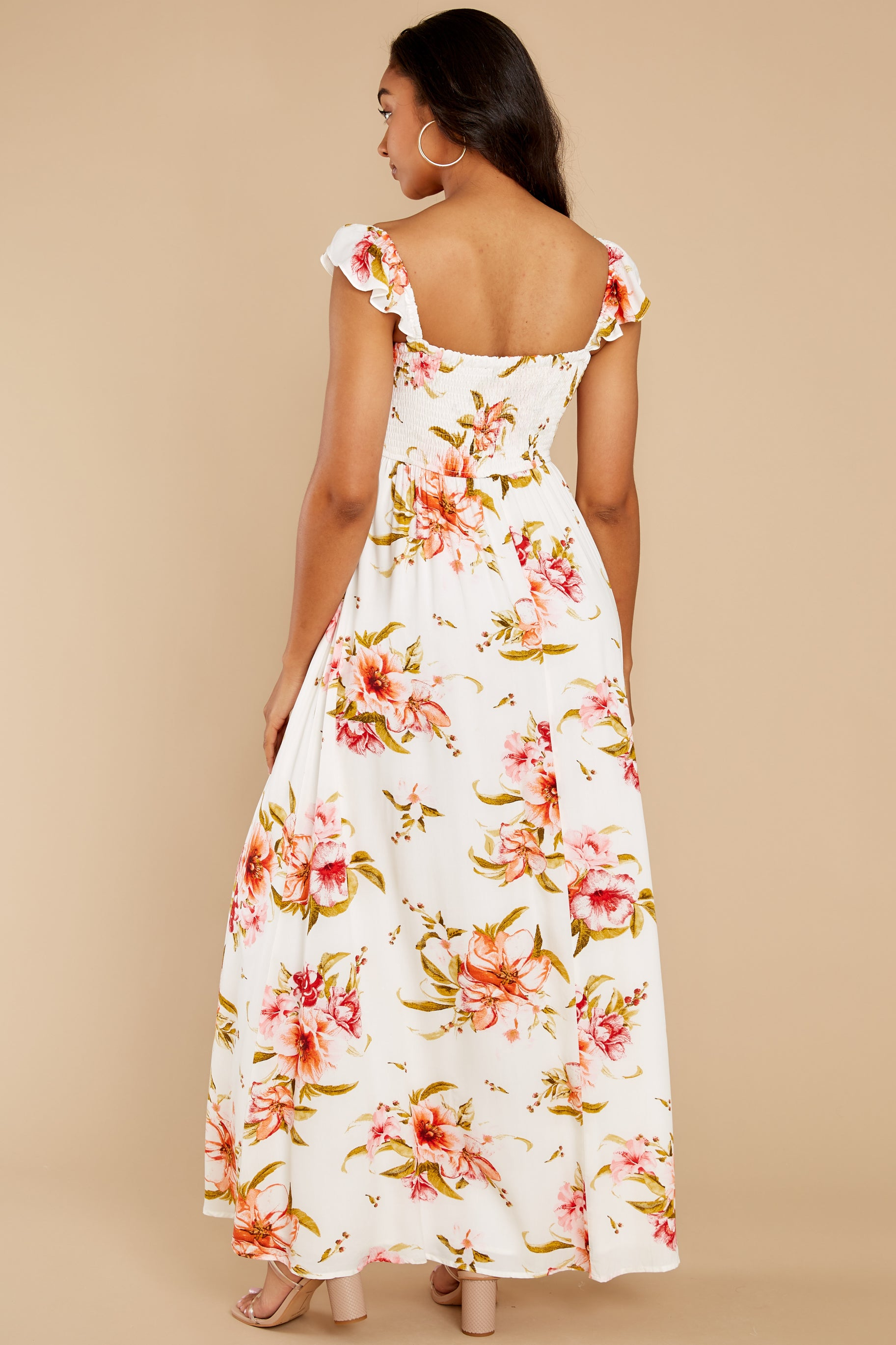 6 Know What I Want White Floral Print Maxi Dress at reddress.com