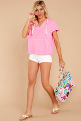 2 Lighthearted Living Bubblegum Pink Hoodie at reddressboutique.com