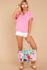 1 Lighthearted Living Bubblegum Pink Hoodie at reddressboutique.com