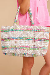 Adventurous Life Blue Multi Tote