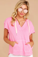 5 Lighthearted Living Bubblegum Pink Hoodie at reddressboutique.com