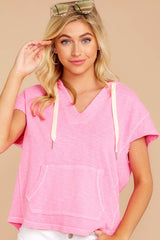 6 Lighthearted Living Bubblegum Pink Hoodie at reddressboutique.com