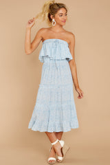 5 Wherever The Day Leads Light Blue Floral Print Midi Dress at reddressboutique.com