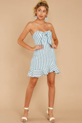 3 Ahoy There Light Blue Stripe Dress at reddress.com