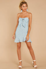 4 Ahoy There Light Blue Stripe Dress at reddress.com