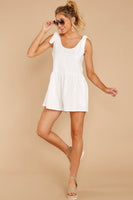 Tall Scoop Neck Hidden Side Zipper Pocketed Gathered Summer Club Dress/Romper