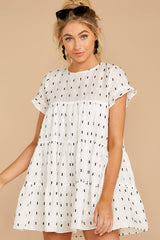 Pop By White Print Dress