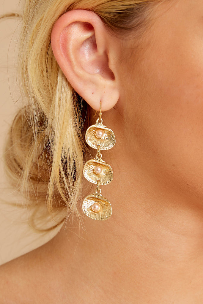 1 Take It Along Gold And Silver Tassel Earrings at reddressboutique.com