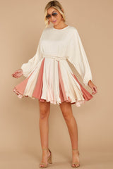 6 Someplace New Ivory And Rose Multi Dress at reddressboutique.com