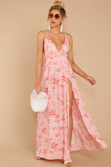 2 Sounds About Right Pink Floral Maxi Dress at reddressboutique.com