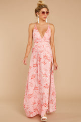 3 Sounds About Right Pink Floral Print Maxi Dress at reddressboutique.com