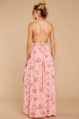6 Sounds About Right Pink Floral Print Maxi Dress at reddressboutique.com