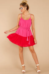 1 Halcyon Days Fuchsia Pink And Red Dress at reddressboutique.com