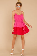 3 Halcyon Days Fuchsia Pink And Red Dress at reddressboutique.com