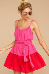 4 Halcyon Days Fuchsia Pink And Red Dress at reddressboutique.com