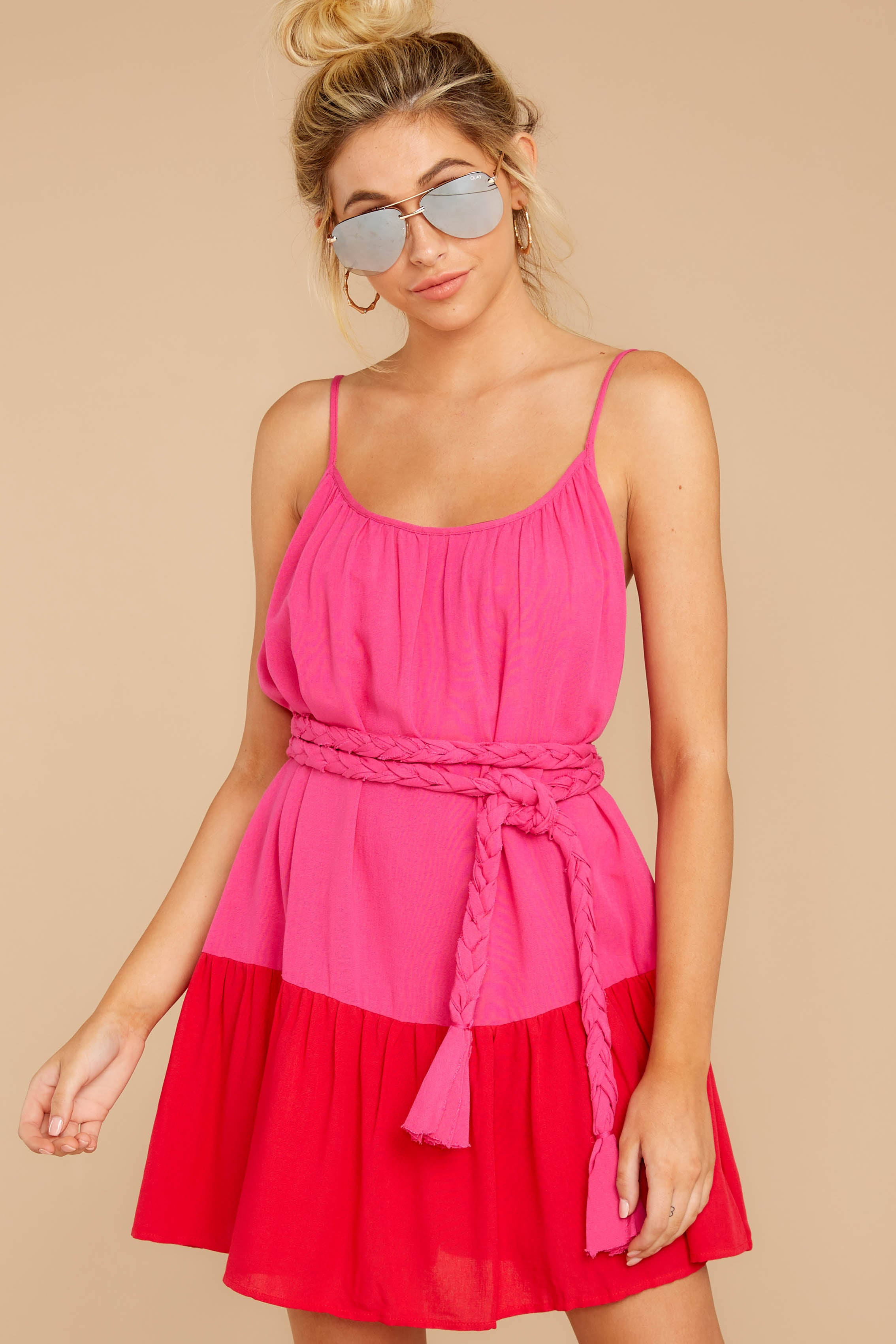 5 Halcyon Days Fuchsia Pink And Red Dress at reddressboutique.com