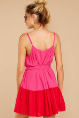 7 Halcyon Days Fuchsia Pink And Red Dress at reddressboutique.com