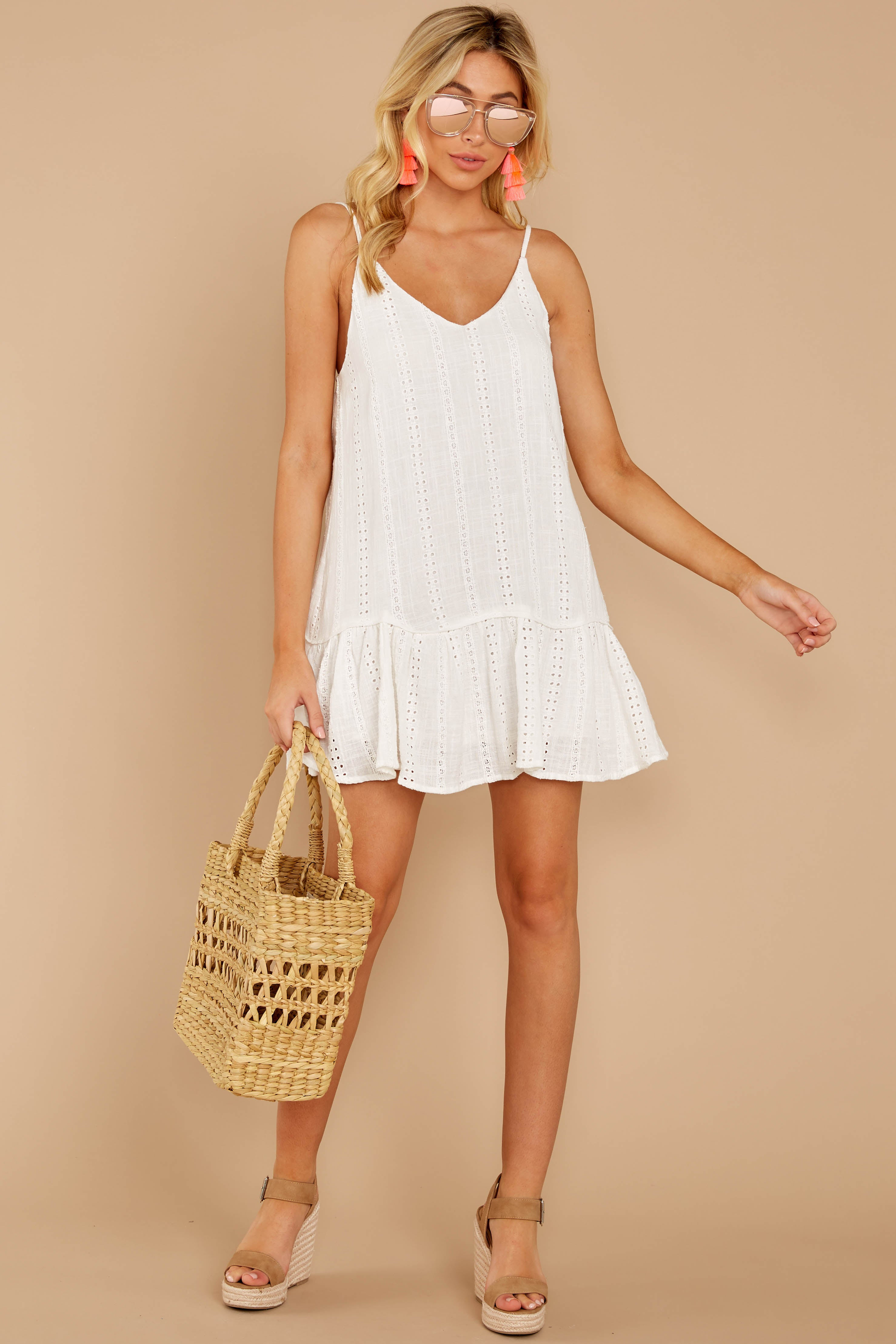 1 Holding Peace White Eyelet Dress at reddressboutique.com