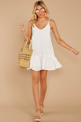 2 Holding Peace White Eyelet Dress at reddressboutique.com