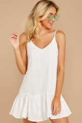 5 Holding Peace White Eyelet Dress at reddressboutique.com
