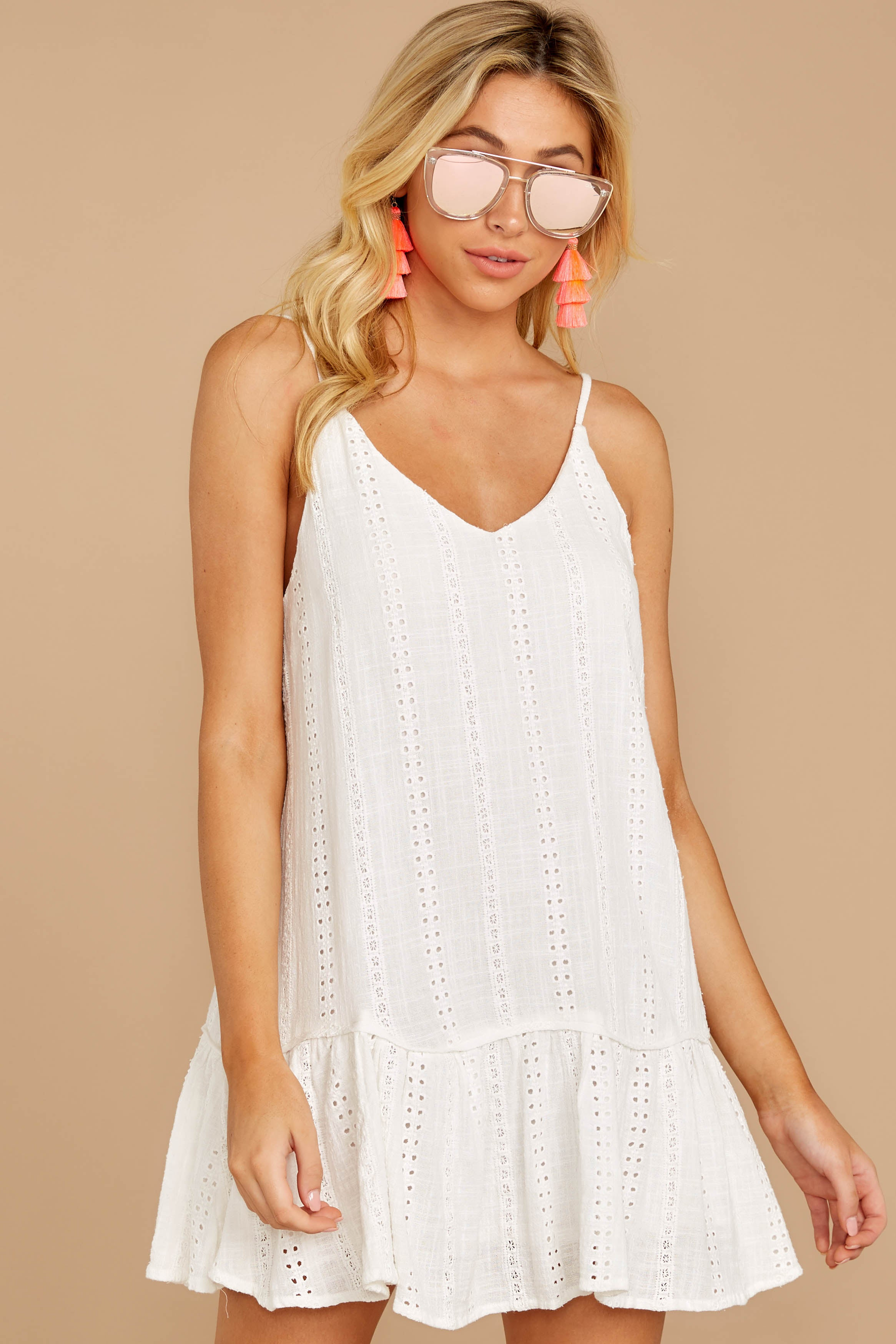 6 Holding Peace White Eyelet Dress at reddressboutique.com