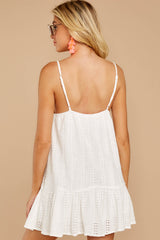 7 Holding Peace White Eyelet Dress at reddressboutique.com
